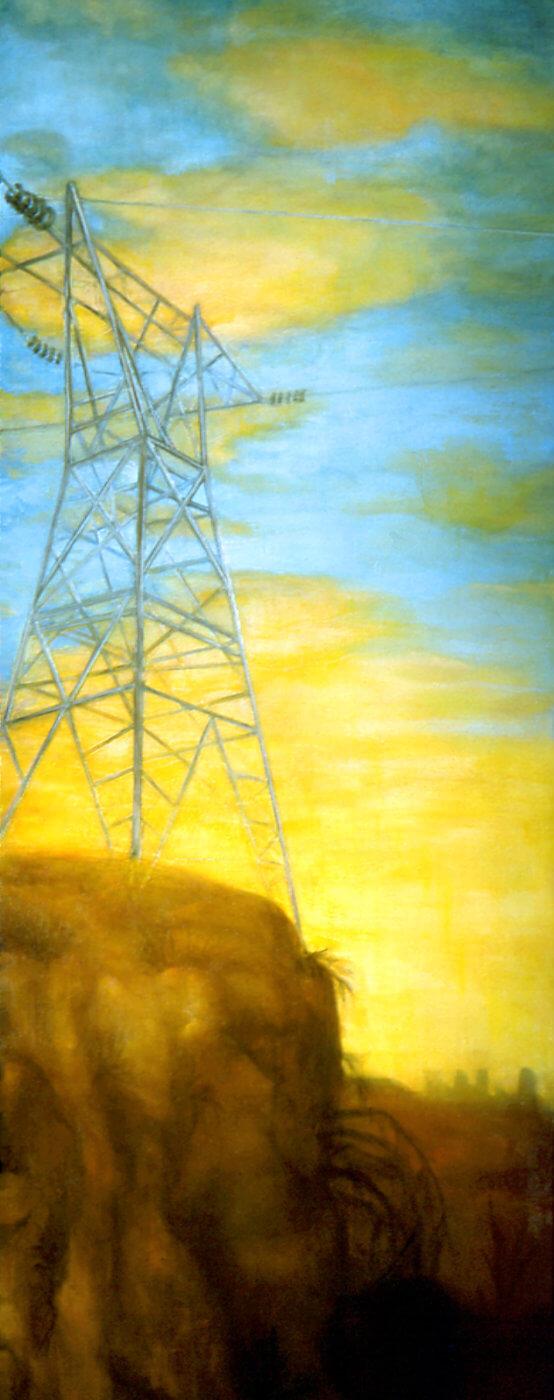 "oil on linen, 84 x 32"", 1991"